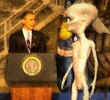 Alien President by esotericaart