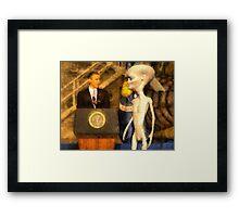 Alien President Framed Print