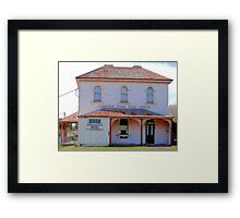 Clarence Town Post Office - Circa 1860 Framed Print