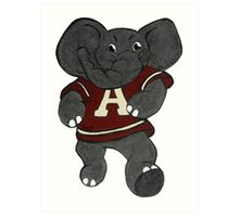 Alabama Roll Tide Elephant Art Print