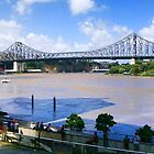 Brisbane River in Flood  by Kym Howard