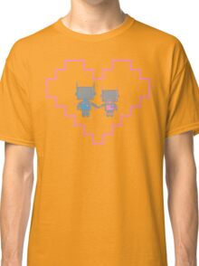 Robot Love Blossoms Classic T-Shirt