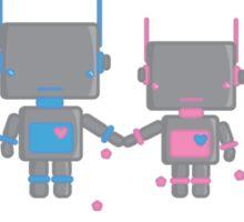 Robot Love Blossoms Sticker
