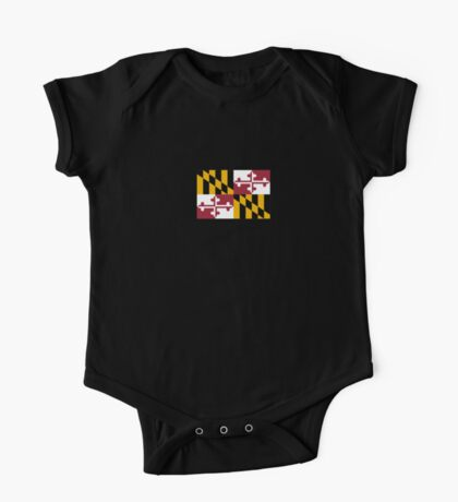 Maryland USA State Flag Baltimore Annapolis Duvet Cover T-Shirt Sticker One Piece - Short Sleeve