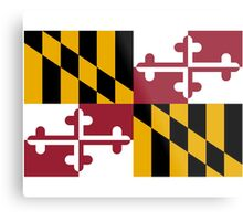 Maryland USA State Flag Baltimore Annapolis Duvet Cover T-Shirt Sticker Metal Print