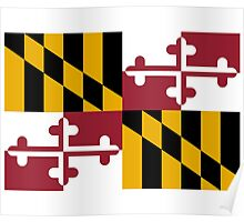 Maryland USA State Flag Baltimore Annapolis Duvet Cover T-Shirt Sticker Poster