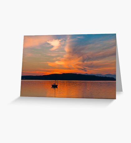 Sundown On Puget Sound Greeting Card