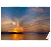 Sunset on Puget Sound V1 Poster