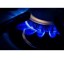 Igniting the Blue Flame Photographic Print