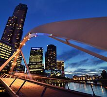 Rainbow Bridge and Eureka Tower [Full Colour Version] by radityopradipto