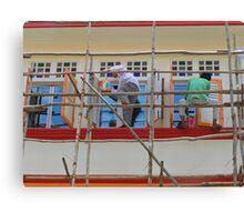 Singapore - Bamboo scaffold Canvas Print