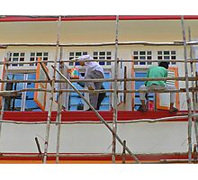 Singapore - Bamboo scaffold Photographic Print
