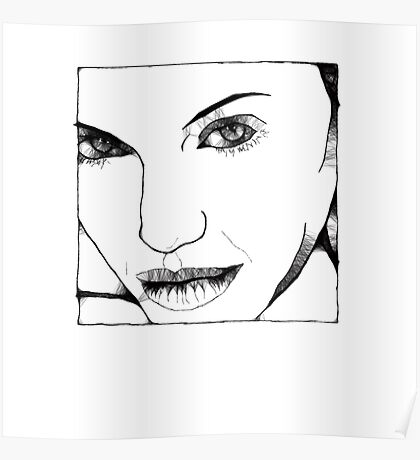Angelina Scribbler Poster