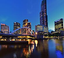 Melbourne Panoramic View of Yarra River [Full Size Version] by radityopradipto