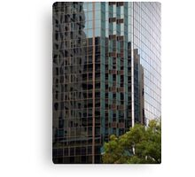 Patterns - Office building reflection Canvas Print