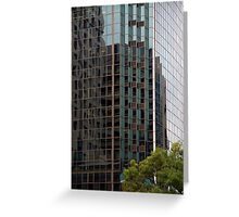 Patterns - Office building reflection Greeting Card