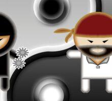 Ninjas Vs Pirates Sticker