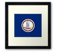 Virginia USA State Richmond Flag Bedspread T-Shirt Sticker Framed Print