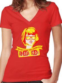 Badass Max Women's Fitted V-Neck T-Shirt