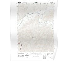 USGS Topo Map Oregon Days Creek 20110831 TM Poster