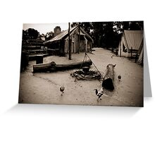 1850's gold mines camping site Greeting Card