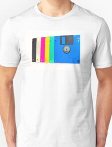 Colorful floppy discs Unisex T-Shirt