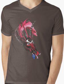 Dragon eating Tory Mens V-Neck T-Shirt