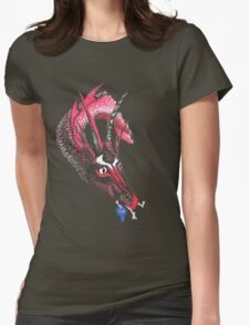 Dragon eating Tory Womens Fitted T-Shirt