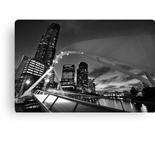 Rainbow Bridge and Eureka Tower [Black & White Version] Canvas Print