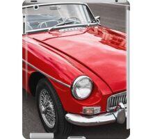 Red convertible MG classic car iPad Case/Skin