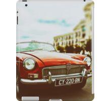 Red convertible MG iPad Case/Skin
