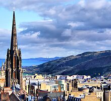 Rooftops of Edinburgh by Sandra Cockayne