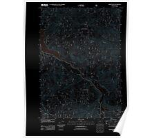 USGS Topo Map Oregon Westfir West 20110722 TM Inverted Poster