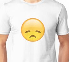 disappointed emoji Unisex T-Shirt