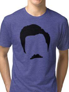 Swanson Mustache Man Tri-blend T-Shirt