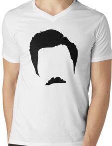Swanson Mustache Man Mens V-Neck T-Shirt