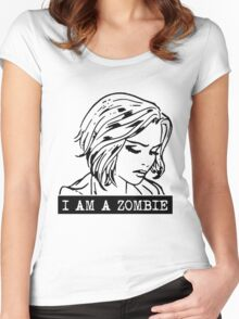 i am a zombie Women's Fitted Scoop T-Shirt