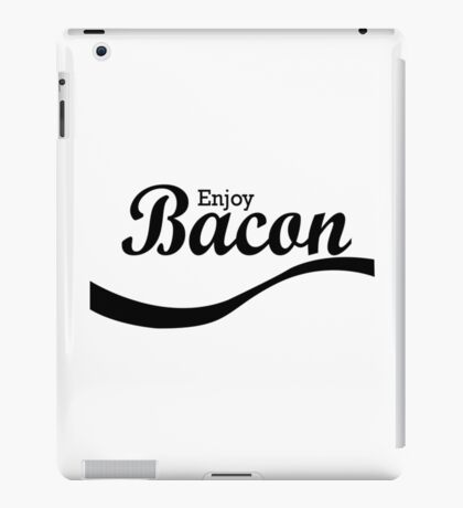 Enjoy bacon geek funny nerd iPad Case/Skin