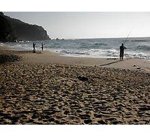 Beach Fishing,Stanwell Park, Australia. Photographic Print