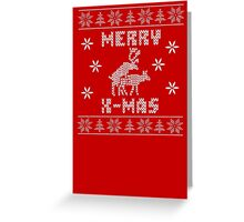Reindeer Merry Christmas Greeting Card