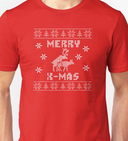 Reindeer Merry Christmas Unisex T-Shirt