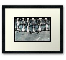scribbler - winter trees Framed Print