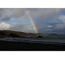 Rainbow over Seaton Photographic Print