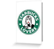 Taylor Swift - Starbucks Lovers (Hearts) Greeting Card