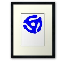 Blue 45 RPM Vinyl Record Holder Framed Print