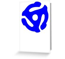 Blue 45 RPM Vinyl Record Holder Greeting Card
