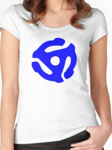 Blue 45 RPM Vinyl Record Holder Women's Fitted Scoop T-Shirt