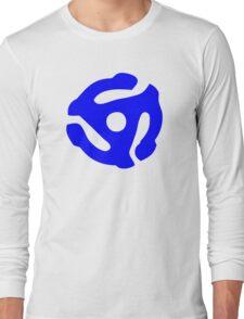 Blue 45 RPM Vinyl Record Holder Long Sleeve T-Shirt