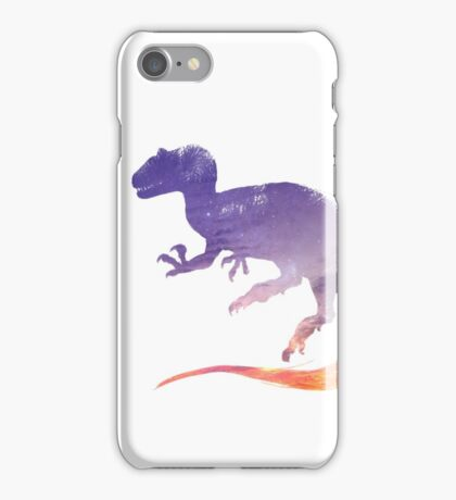Purple Sky Allosaurus Silhouette iPhone Case/Skin