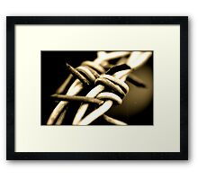 bard wire Framed Print
